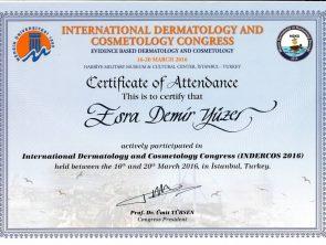 uluslararası dermotology sertifikası