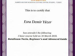 uluslararası Dermatoloji congres sertifikası