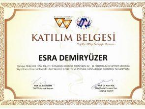 Tıbbi genetik kursu sertifikası