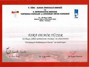 türk alman jinekoloji derneği sertifikası